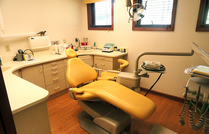 Exam room for Pediatric dentists Dr. Robert Collins and Dr. Dale Collins