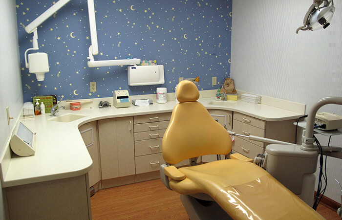 Our second exam room for Pediatric dentists Dr. Robert Collins and Dr. Dale Collins
